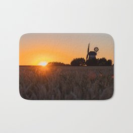 North German windmill from old time in the sunset Bath Mat