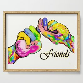 ASL Friend Bright Colors Serving Tray