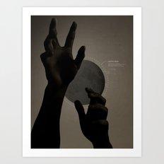 Hand's on the Moon Art Print
