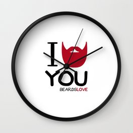 I BEARD YOU Wall Clock