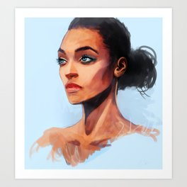 Portrait of a Brown Woman Art Print