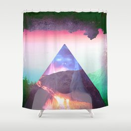 Even the cool erupt  Shower Curtain