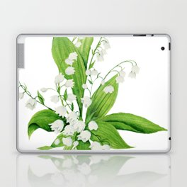 White Lilly Bouquet Laptop & iPad Skin