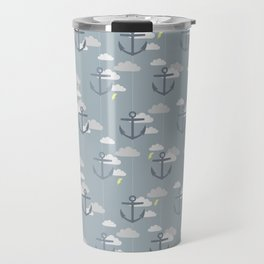 Stormy Nautical Pattern 2 Travel Mug
