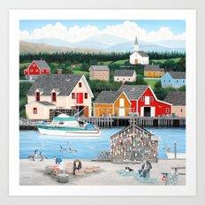 Fisherman's Cove Art Print