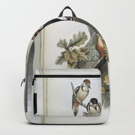 194 Picus major. Great Spotted Woodpecker Backpack