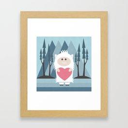 Little Yeti, Big Heart Framed Art Print