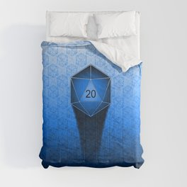D20 All I Do Is Crit!  Blue Ombre Comforters