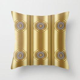 Golden Series with Diamond Ring Throw Pillow