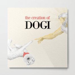The Creation of Dogi Metal Print