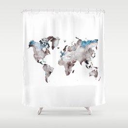 world map 73 Shower Curtain