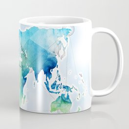 Watercolor map Coffee Mug
