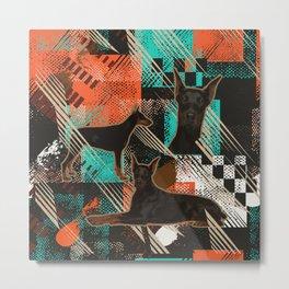 Dobermann - Doberman Pinscher Abstract Metal Print
