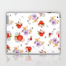 RED FLORAL Laptop & iPad Skin