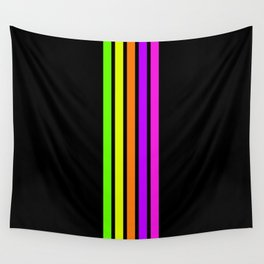 Minimal Abstract Retro Stripes 80s Neon Style - Nenana Wall Tapestry