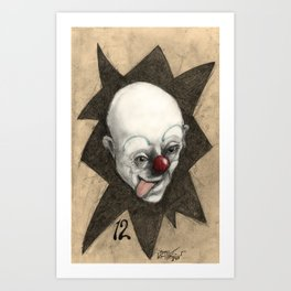 Clown numb12r Art Print