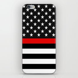 Thin Red Line American Flag iPhone Skin