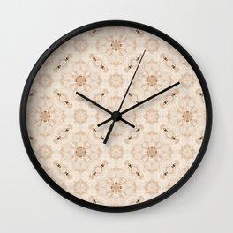 Off White Vintage Flower Pattern Wall Clock