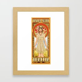 The Muse of Comedy Framed Art Print