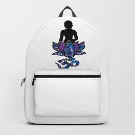 Buddha Lotus flower with Ohm/Om symbol. Backpack
