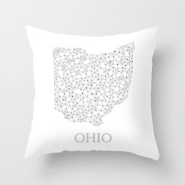 Ohio LineCity W Throw Pillow