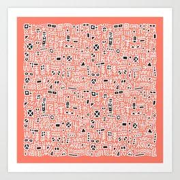 Groove Symbols Art Print