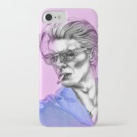 bowie iPhone & iPod Cases featuring Bowie  by Lucy Schmidt Art