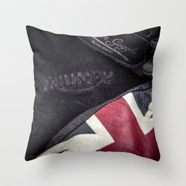 Triumph Motorcycles Throw Pillow