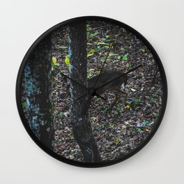 Young Whitetail Deer Wall Clock