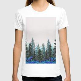 MOUNTAIN FOREST PINES LANDSCAPE  ART T-shirt
