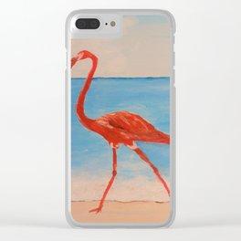 love flamingo Clear iPhone Case