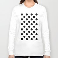 polka dots Long Sleeve T-shirts featuring Polka Dots (Black/White) by 10813 Apparel