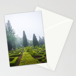 Beautiful manicured gardens of Palace of Queluz in Portugal Stationery Cards