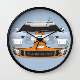 Ford GT40 in Gulf Oil livery Wall Clock