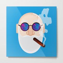Smoking Man Metal Print