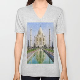 faraway places Unisex V-Neck