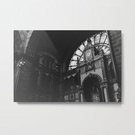 Antwerp Central Station Metal Print