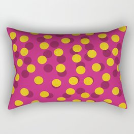 Gold Spotty Dots Rectangular Pillow