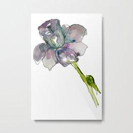 Daffodil Watercolor Metal Print