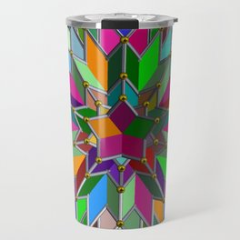 Mandala #106, Star Burst Travel Mug