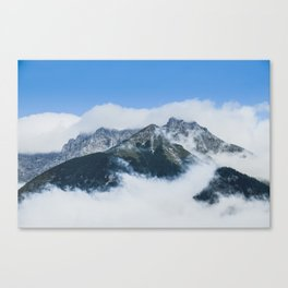 Misty mountain in a summer morning Canvas Print