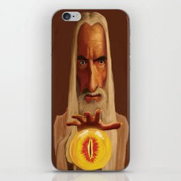 Caricature of Christopher Lee iPhone Skin