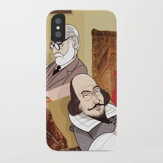 Freud analysing Shakespeare iPhone Case
