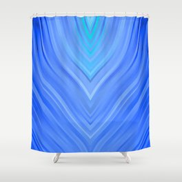 stripes wave pattern 3 c80 Shower Curtain