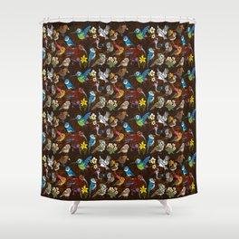 CA 12 BIRDS (CA鳥風月) Shower Curtain