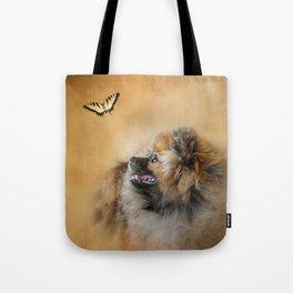 Butterfly Dreams - Pomeranian Tote Bag