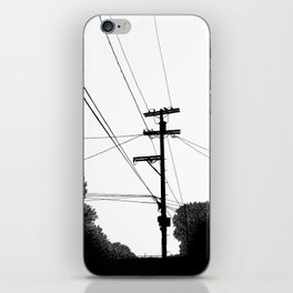 Power Lines at the bluff iPhone Skin