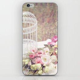Birdcage & Flowers iPhone Skin
