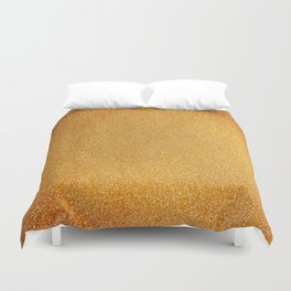 Textured Gold Duvet Cover