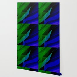 Geo Green and Blue Wallpaper